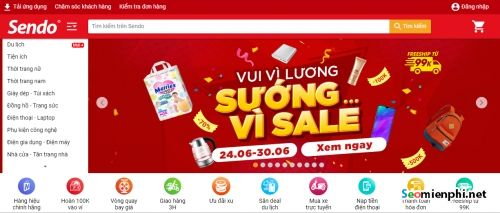 thiet ke website ban hang sendo vn