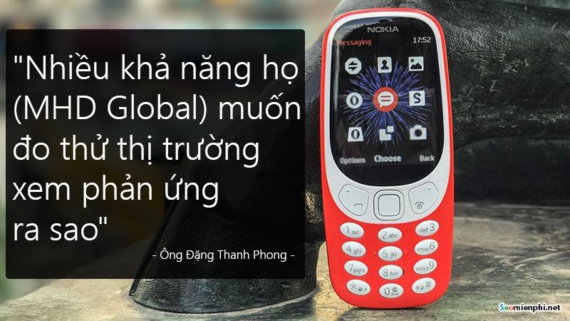 chon  cuc gach  3310 di tien phong thay smartphone nokia dang tinh gi